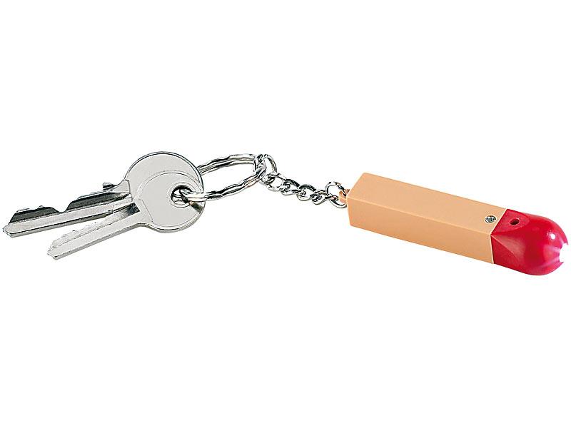 infactory Mini Taschenlampe: LED-Schlüsselanhänger im Streichholz ...