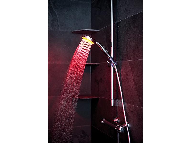 infactory led duschkopf mit automatischem farbwechsler. Black Bedroom Furniture Sets. Home Design Ideas