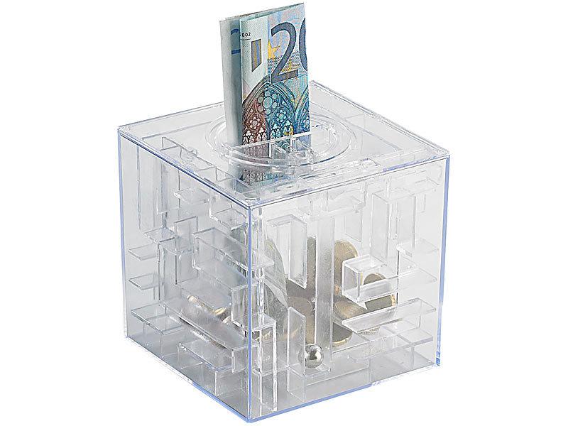 infactory sparb chse spardose mit 3d kugel labyrinth. Black Bedroom Furniture Sets. Home Design Ideas