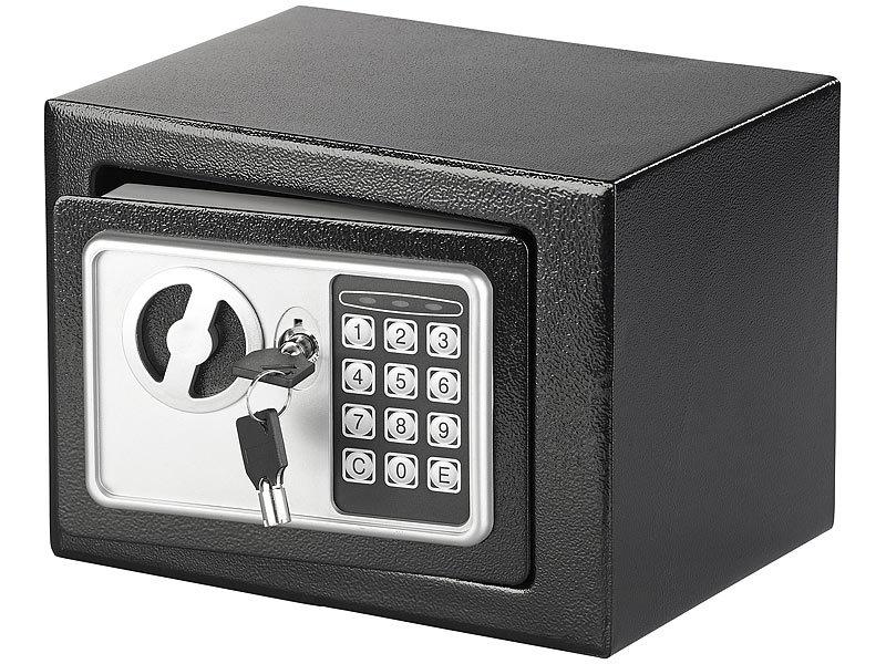 Top Xcase Mini Safe: Stahlsafe mit digitalem Code-Schloss und 2 Tresor MB85
