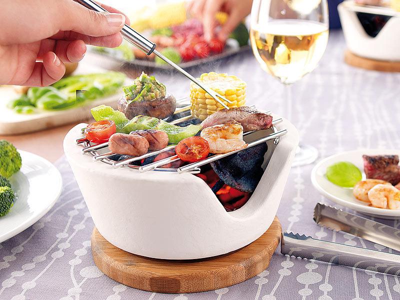 rosenstein s hne mini tischgrill f r holzkohle cook chips 4er set. Black Bedroom Furniture Sets. Home Design Ideas