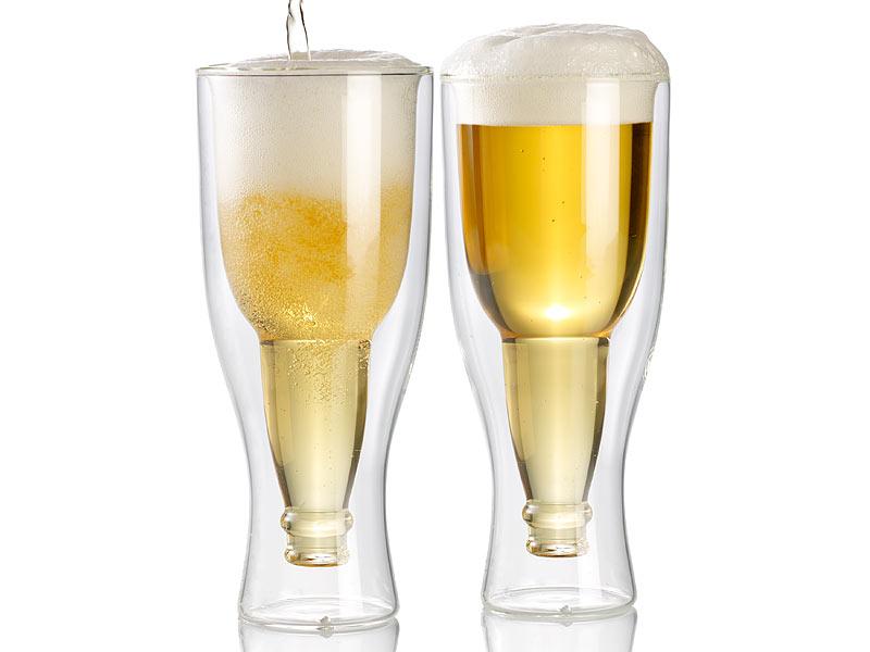 Bevorzugt infactory Doppelwandiges Glas: Doppelwandiges Bierglas, 0,2l im QQ45