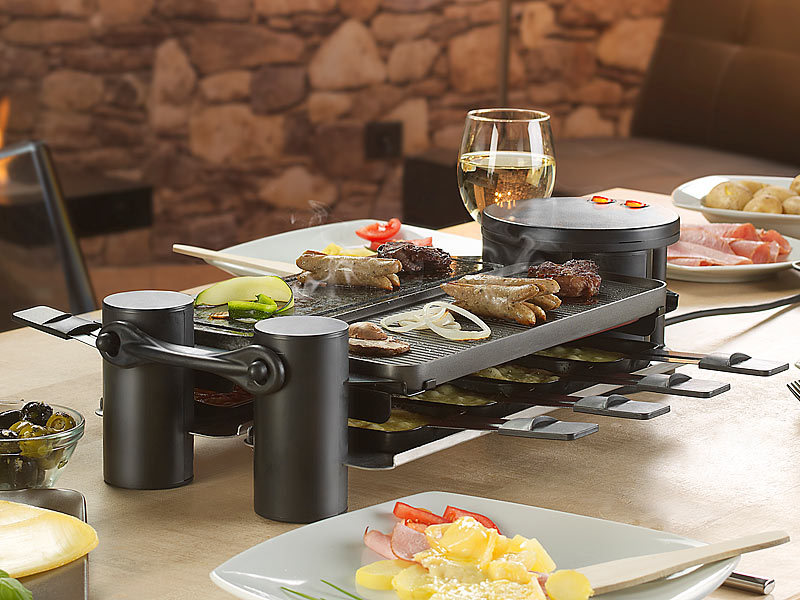 rosenstein s hne variabler raclette grill rcl 180 f r 2 8 personen watt. Black Bedroom Furniture Sets. Home Design Ideas