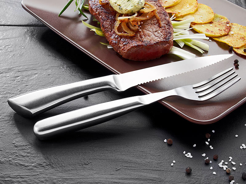 rosenstein s hne steakmesser 12 teiliges steakbesteck besteck set. Black Bedroom Furniture Sets. Home Design Ideas
