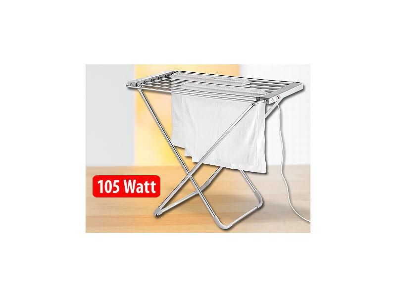 Sichler haushaltsgeräte elektrisch beheizbarer wäscheständer