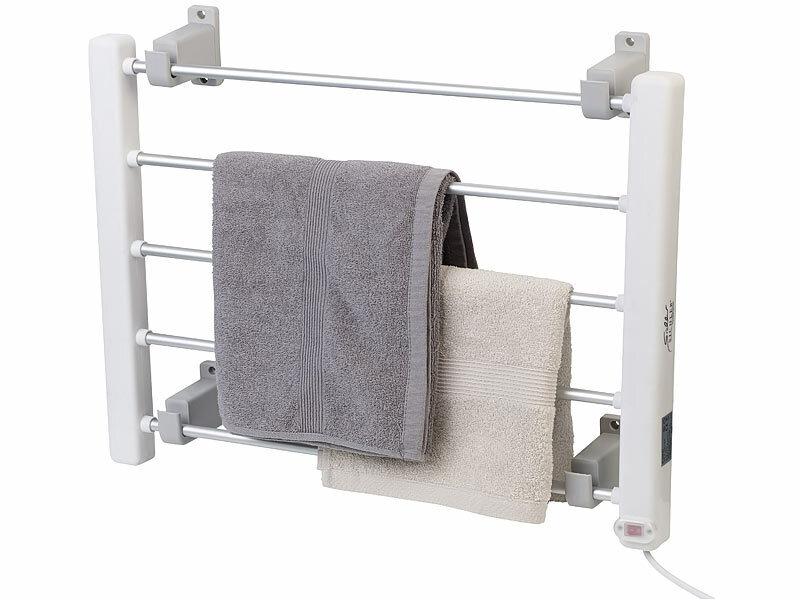 haushaltsger te elektrisch beheizbarer handtuchw rmer. Black Bedroom Furniture Sets. Home Design Ideas