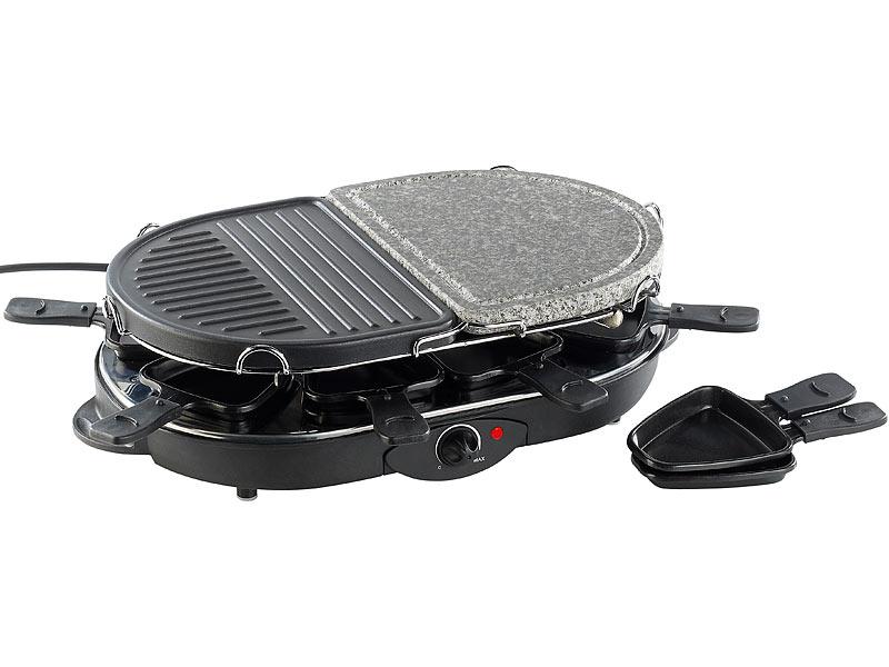rosenstein s hne raclette rcl 130 grill hei er stein 8 personen refurb w. Black Bedroom Furniture Sets. Home Design Ideas