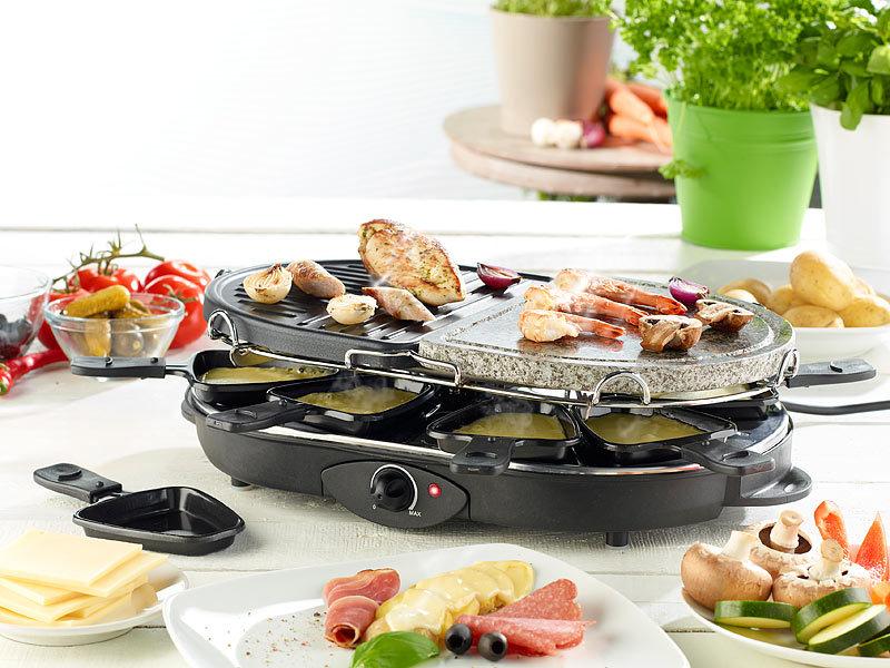 rosenstein s hne raclette rcl 130 grill hei er stein 8 personen. Black Bedroom Furniture Sets. Home Design Ideas