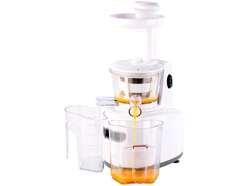 Rosenstein Und Sohne Slow Juicer Test : Rosenstein & Sohne Saft Maschine: Slow Juicer zum schonenden Entsaften, 150 Watt, 72 Umdrehungen ...