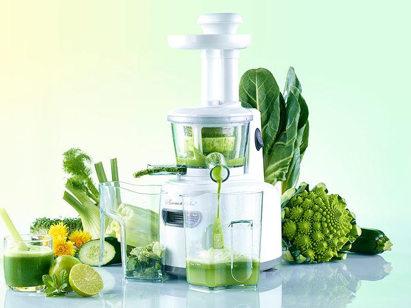 Rosenstein & Sohne Slow Juicer zum schonenden Entsaften (Saftpresse)