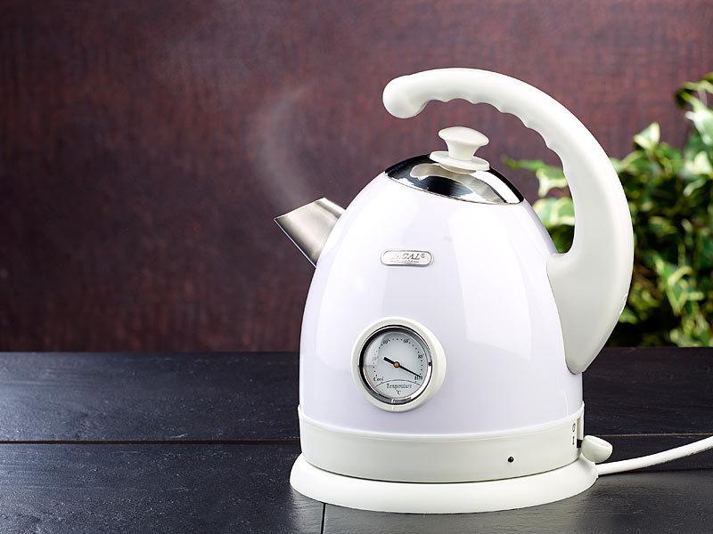 rosenstein s hne wasserkocher elektrisch kabelloser wasserkocher mit temperaturanzeige. Black Bedroom Furniture Sets. Home Design Ideas