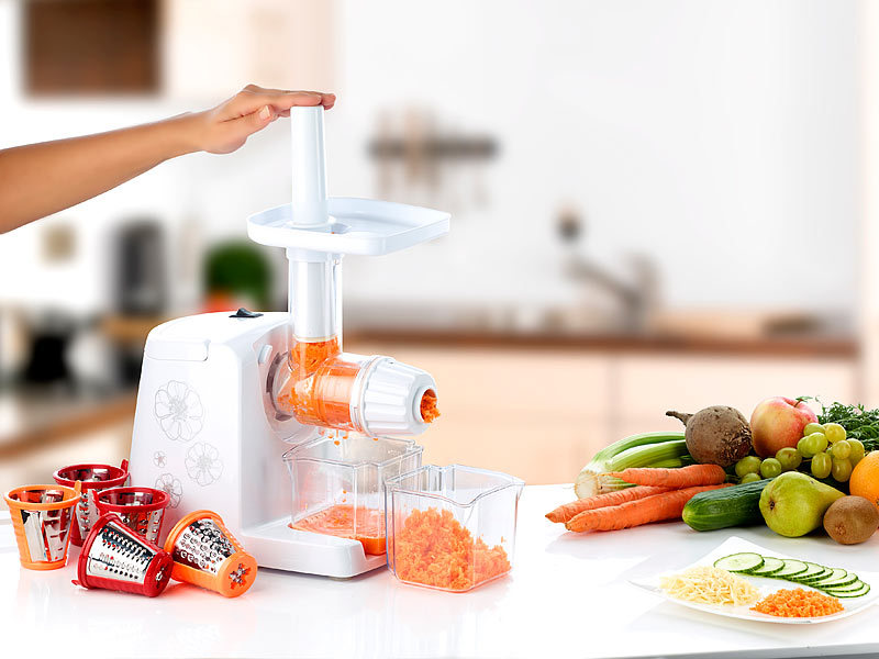 Nutrilovers Slow Juicer Elektrischer Entsafter : Rosenstein & Sohne Entsafter Slow-Juicer: Elektrischer Slow Juicer mit 150 Watt Leistung ...