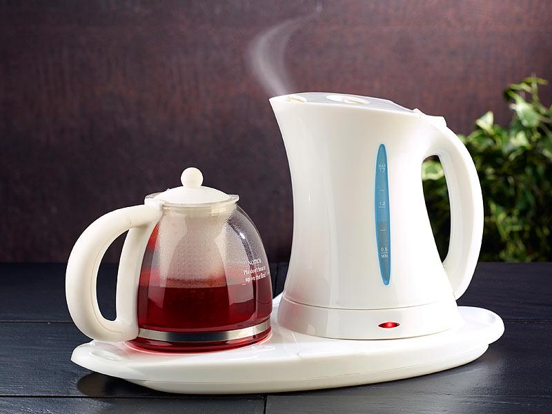 PEARL Wasserkocher WSK150set mit Teekanne und  ~ Wasserkocher Tee