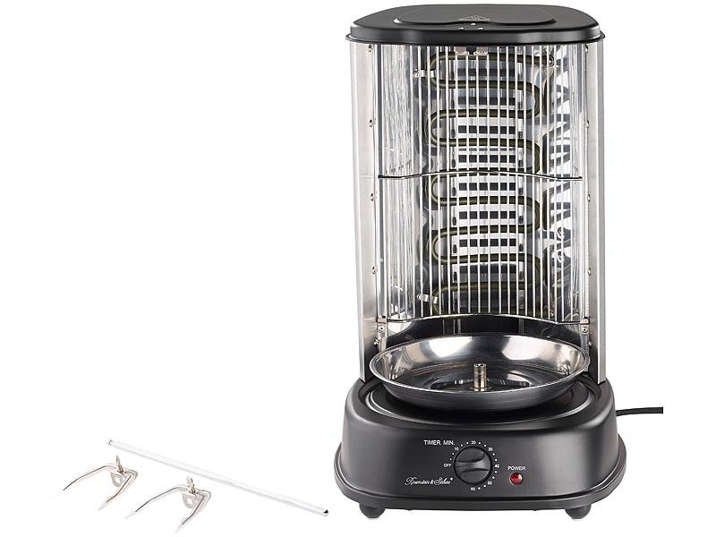 rosenstein s hne d ner und gyros grill watt mittelspie mit spie gabeln timer. Black Bedroom Furniture Sets. Home Design Ideas