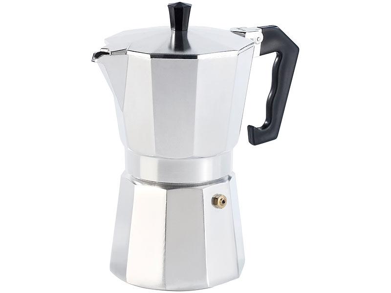 cucina di modena espressokocher f r 6 tassen f r gas elektro und ceran feld. Black Bedroom Furniture Sets. Home Design Ideas