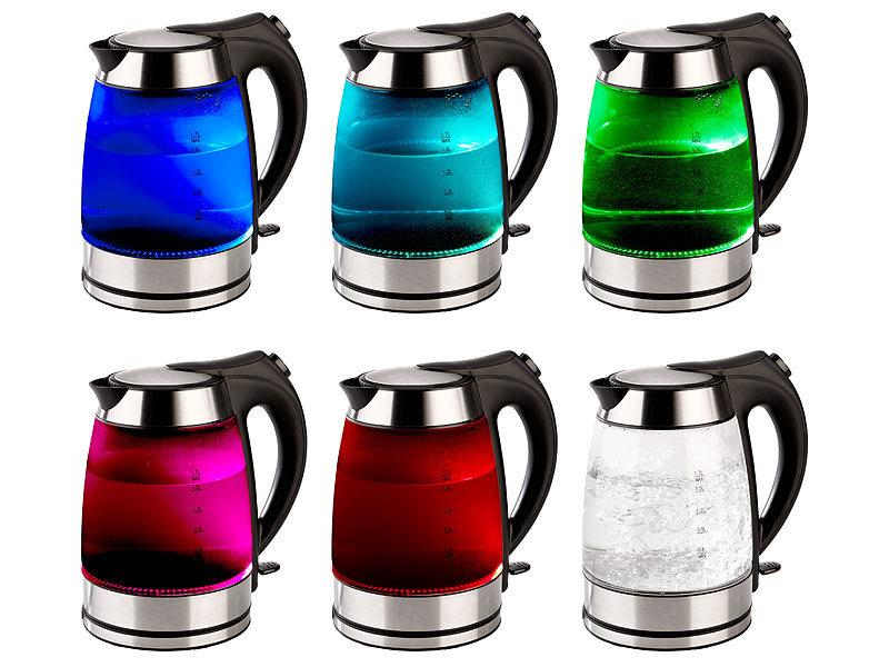 rosenstein s hne glas wasserkocher wasserkocher mit temperaturabh ngige led beleuchtung 1 7. Black Bedroom Furniture Sets. Home Design Ideas