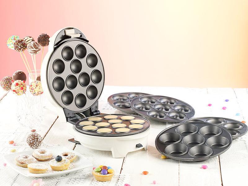 8ed3df9cbdf Rosenstein & Söhne Cake Pop Maker: 3in1-Donut-, Cupcake- und Cakepop ...
