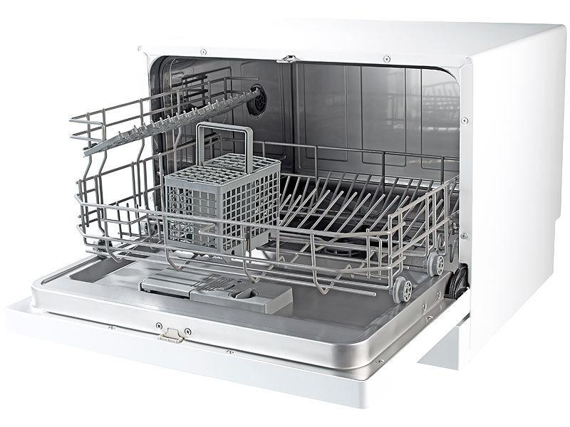 Sichler Haushaltsgeräte Tischgeschirrspüler TGS-6 für 6 Maßgedecke | {Tischgeschirrspüler 42}