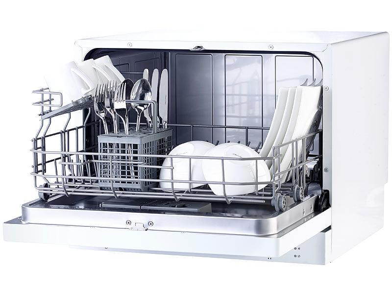 Sichler Haushaltsgeräte Tischgeschirrspüler TGS-6 für 6 Maßgedecke | {Tischgeschirrspüler 46}