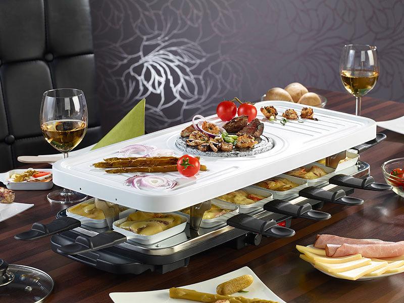 tv das original keramik raclette und fondue set f r bis. Black Bedroom Furniture Sets. Home Design Ideas