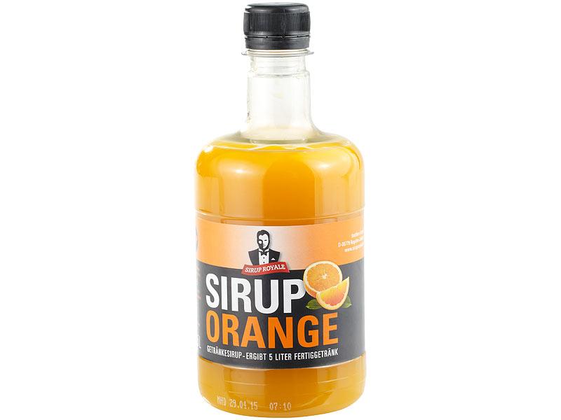 Slush Sirups Sirup Royale Mit Orange Geschmack 05 Liter Pet