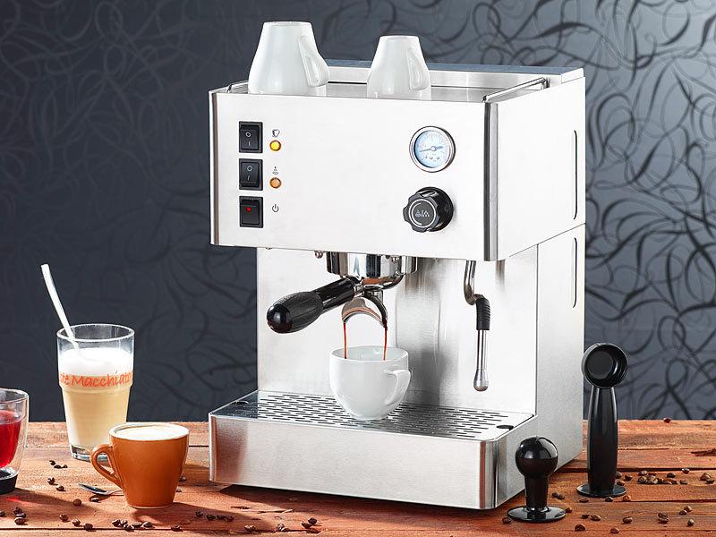 Cucina di Modena Espresso-Bereiter: Siebträger-Espressomaschine ES ...