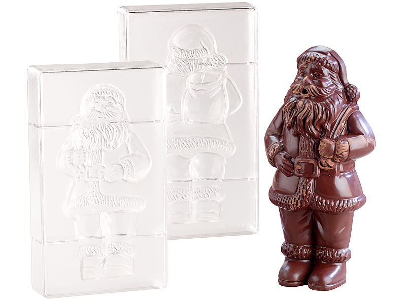 rosenstein s hne schokoladen form 3d schokoladen gussformen set xl weihnachtsmann gie form. Black Bedroom Furniture Sets. Home Design Ideas