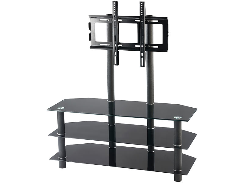 carlo milano tv rack f r flachbildschirme mit 32 52 max 50 kg 1. Black Bedroom Furniture Sets. Home Design Ideas