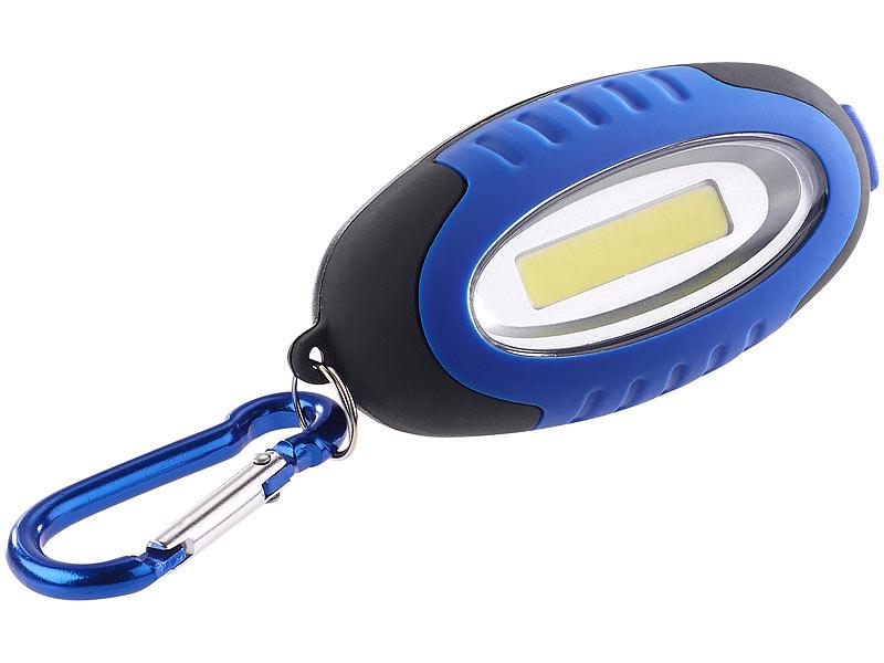 Lunartec Mini Lampe: Mini-Taschenlampe mit COB-LED und Karabiner ...