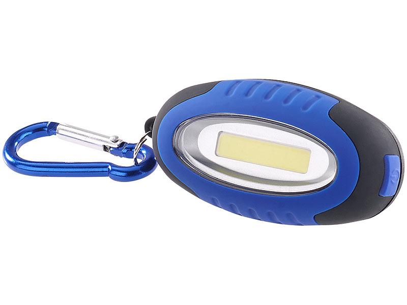 lunartec mini taschenlampe mit cob led und karabiner haken 0 5 w 35 lm ipx4. Black Bedroom Furniture Sets. Home Design Ideas