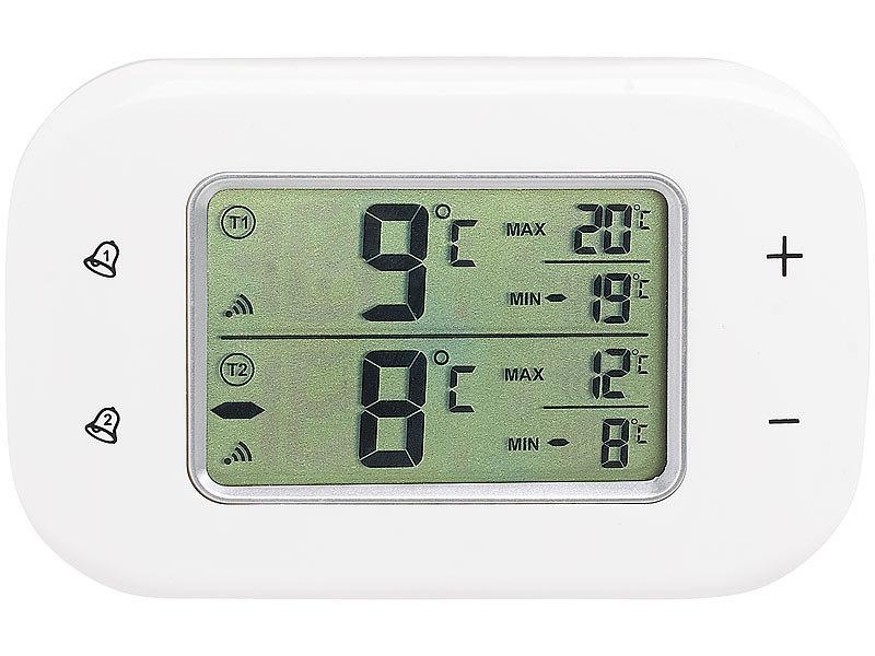 rosenstein s hne k hlschrankthermometer digitales k hl gefrierschrank thermometer 2 funk. Black Bedroom Furniture Sets. Home Design Ideas