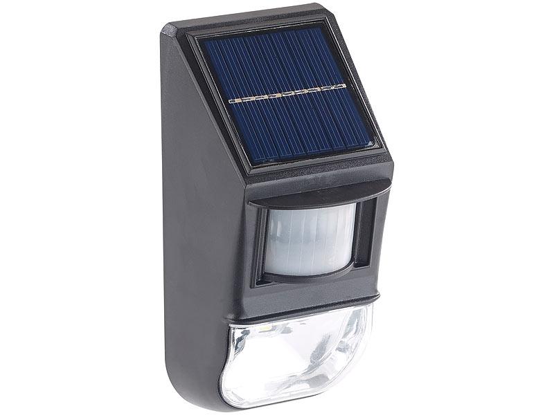 lunartec solar wand led leuchten led solar wandleuchte d mmerungs pir bewegungssensor 50. Black Bedroom Furniture Sets. Home Design Ideas