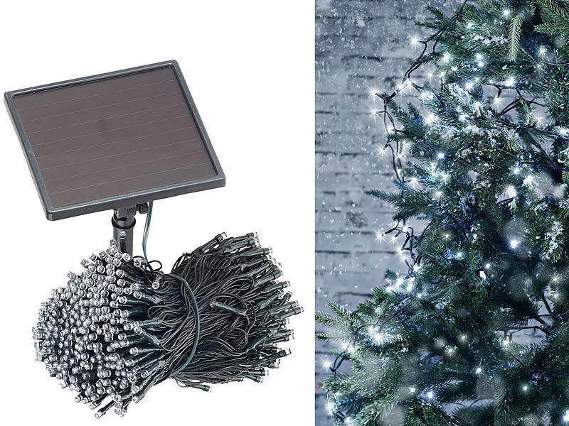 lunartec au enlichterkette solar led lichterkette 500 leds d mmerungssensor wei 50 m. Black Bedroom Furniture Sets. Home Design Ideas