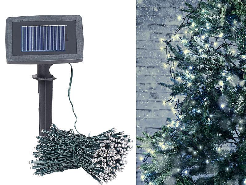 lunartec lichterkette aussen solar led lichterkette 200 leds d mmerungssensor warmw 20 m. Black Bedroom Furniture Sets. Home Design Ideas