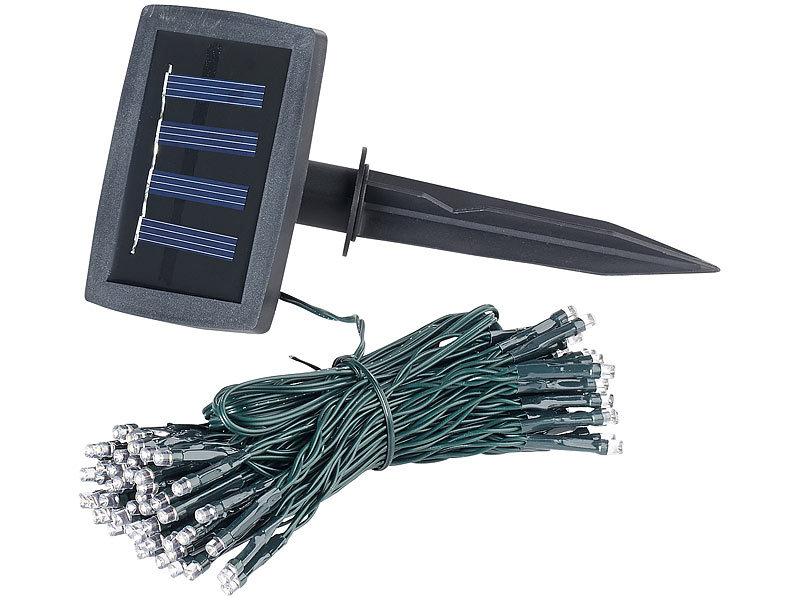 lunartec led lichterkette au en solar led lichterkette 100 leds d mmerungssensor warmw 10. Black Bedroom Furniture Sets. Home Design Ideas