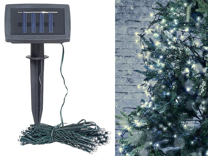 lunartec solar lichterkette au en solar led lichterkette 100 leds d mmerungssensor warmw. Black Bedroom Furniture Sets. Home Design Ideas
