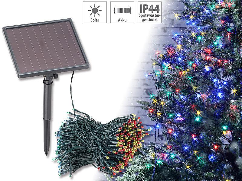 lunartec 4 farbige solar led lichterkette mit 500 leds und. Black Bedroom Furniture Sets. Home Design Ideas