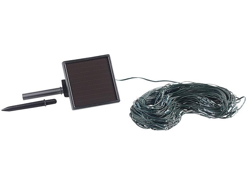 lunartec lichternetz lichterkette solar led lichternetz 144 leds wei 2 x 2 m ip44. Black Bedroom Furniture Sets. Home Design Ideas
