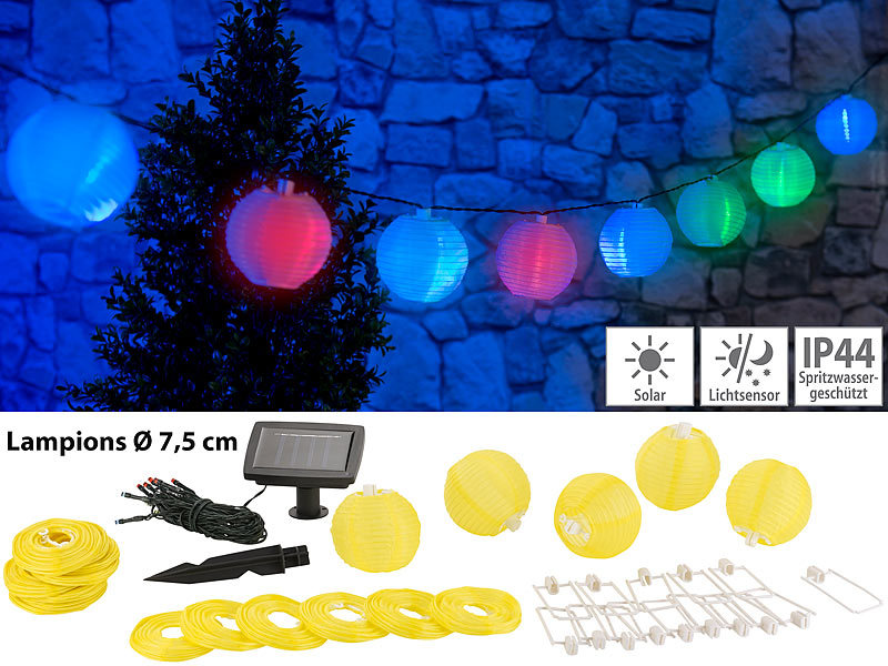 lunartec solar gartendeko solar led lichterkette m 20 mini lampions 3 8 m ip44 led solar. Black Bedroom Furniture Sets. Home Design Ideas