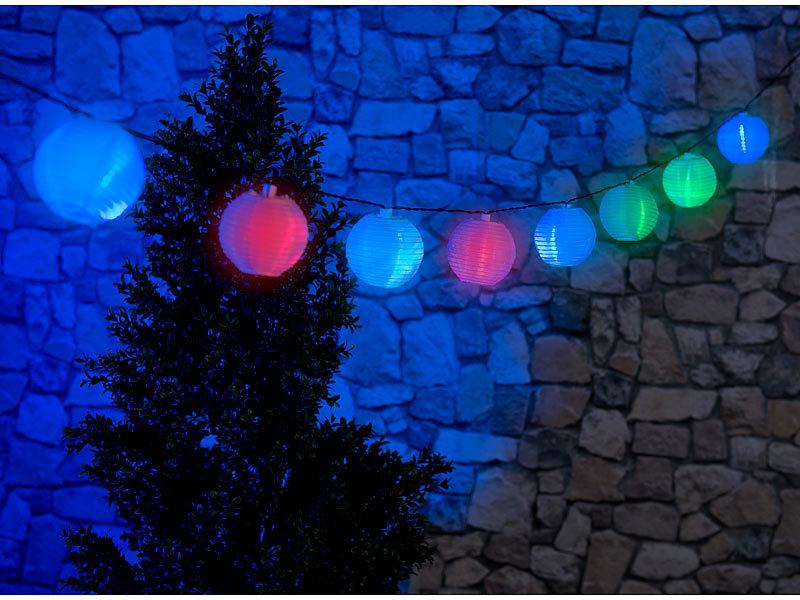 Lunartec Solar Lampion Wetterfest Solar Led Lichterkette Mit 10