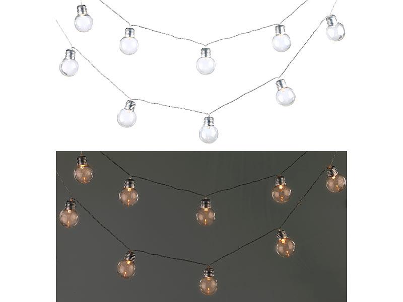 lunartec solar led lichterkette mit 10 led gl hbirnen 1 8 meter ip44. Black Bedroom Furniture Sets. Home Design Ideas