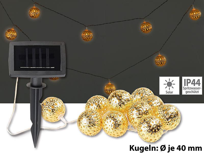Lunartec Solarketten Für Garten Solar Led Lichterkette 10 Goldene