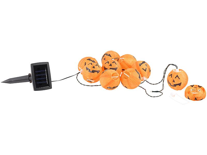 Lunartec Hänge-Beleuchtung: Solar-Lichterkette mit 10 LED-Lampions ...