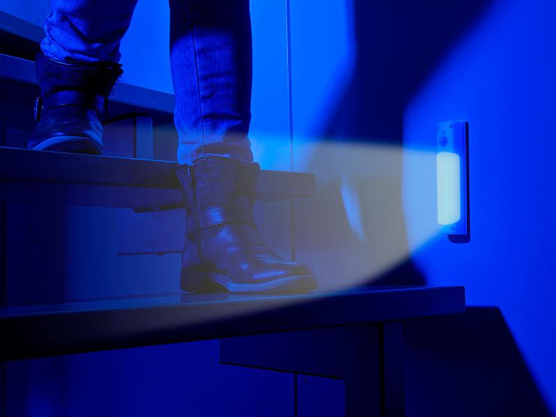 lunartec 4in1 akku led lampe mit bewegungsmelder und usb ladefunktion 1 2 watt. Black Bedroom Furniture Sets. Home Design Ideas