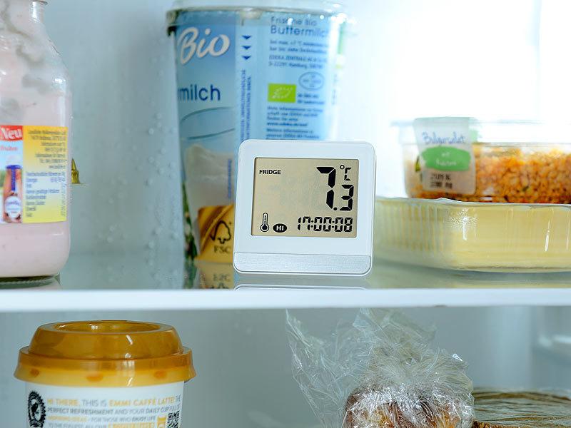 rosenstein s hne kfz thermometer digitales gefrier k hlschrankthermometer mit temperatur. Black Bedroom Furniture Sets. Home Design Ideas
