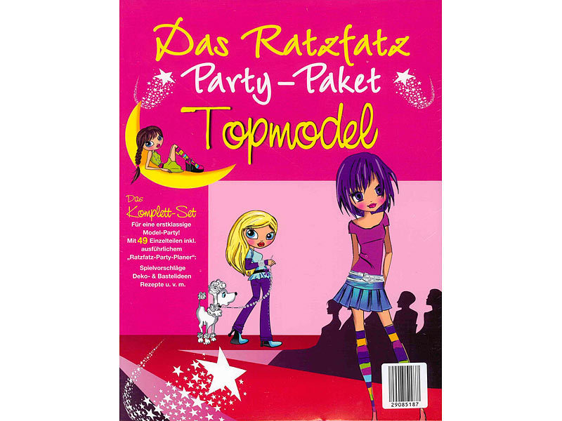 ratzfatz party paket topmodel 7 einladungskarten deko basteln. Black Bedroom Furniture Sets. Home Design Ideas