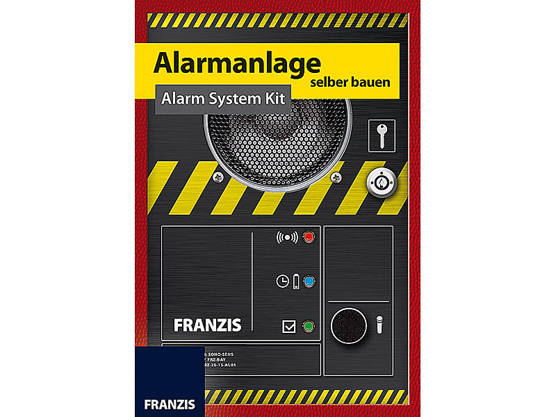 franzis elektrik baukasten alarmanlage selber bauen alarm system kit konstruktionsset. Black Bedroom Furniture Sets. Home Design Ideas