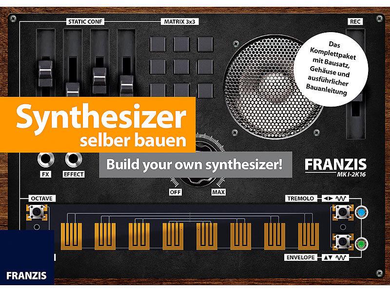 franzis elektrobausatz synthesizer selber bauen build your own synthesizer elektronik. Black Bedroom Furniture Sets. Home Design Ideas