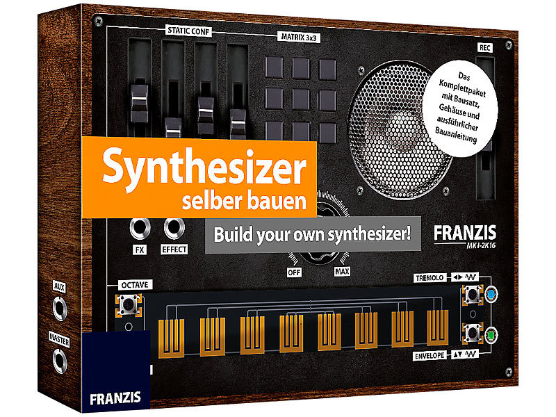 franzis elektro baus tze synthesizer selber bauen build your own synthesizer elektronik. Black Bedroom Furniture Sets. Home Design Ideas