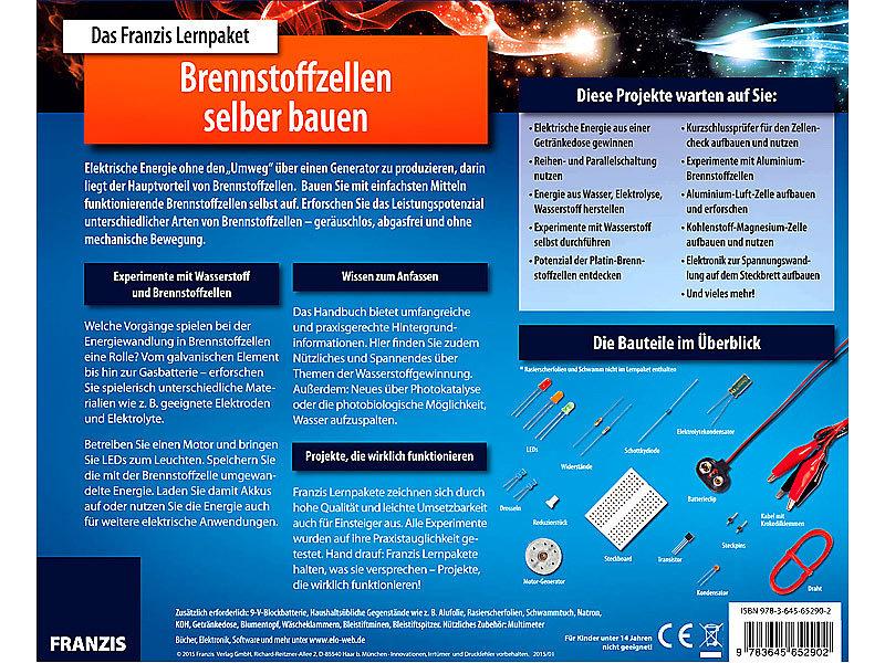 Bevorzugt FRANZIS Lernpaket Brennstoffzellen selber bauen WE54